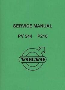 volvo pv544 p210 1957 car shop manual catalogue book paper ebay rh ebay co uk 1964 Volvo PV544 1964 Volvo PV544