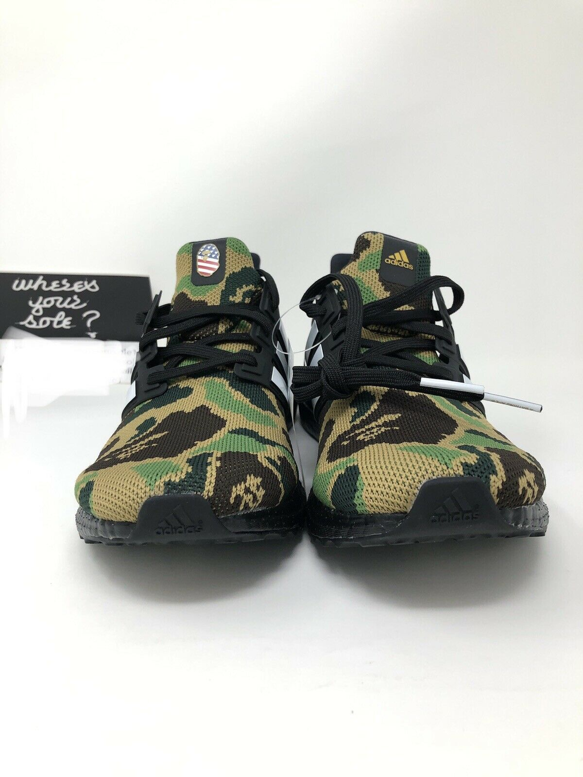 7ba9db063ca Adidas Bape Ultra Boost size 9.5 A Bathing Ape Superbowl SB UB 4.0 NEW  F35097 DS
