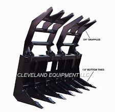 New Listing72 Severe Duty Root Grapple Rake Attachment Mustang Gehl Jcb Skid Steer Loader