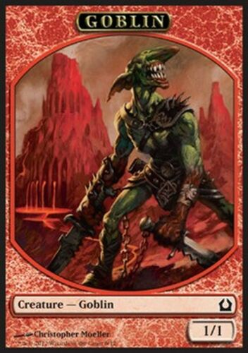 Jeton Goblin Gobelin 1//1 MTG magic RTR MRM FRENCH 4x Token