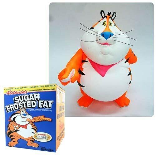 "Fat Tony Cereal Killers Series Last Fat Breakfast 9/"" Vinyl Figure Ron English"