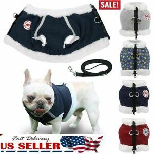 New-Dog-Pet-Warm-Fleece-Clothes-Cat-Reflective-Vest-Puppy-Coat-Jacket-Leash