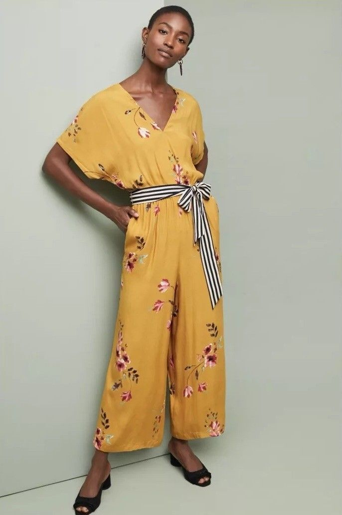 Anthropologie  Corey Lynn Calter Floral Jumpsuit L new nwt