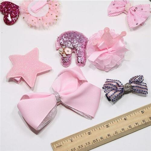 Baby Kids Girls Cute Hair Clip Hairpins Set Hair Clip For Kids Surprise 10Pc W10