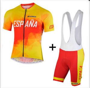 Ropa-ciclismo-Espana-set-maillot-culot-ninos-adulto-cycling-jersey-bib-shorts