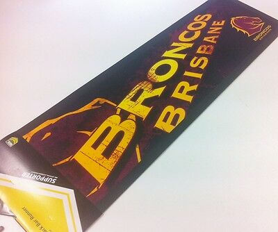Licensed NRL BRISBANE BRONCOS Bar Mat Runner for Man Cave Snooker Pool Cue Room