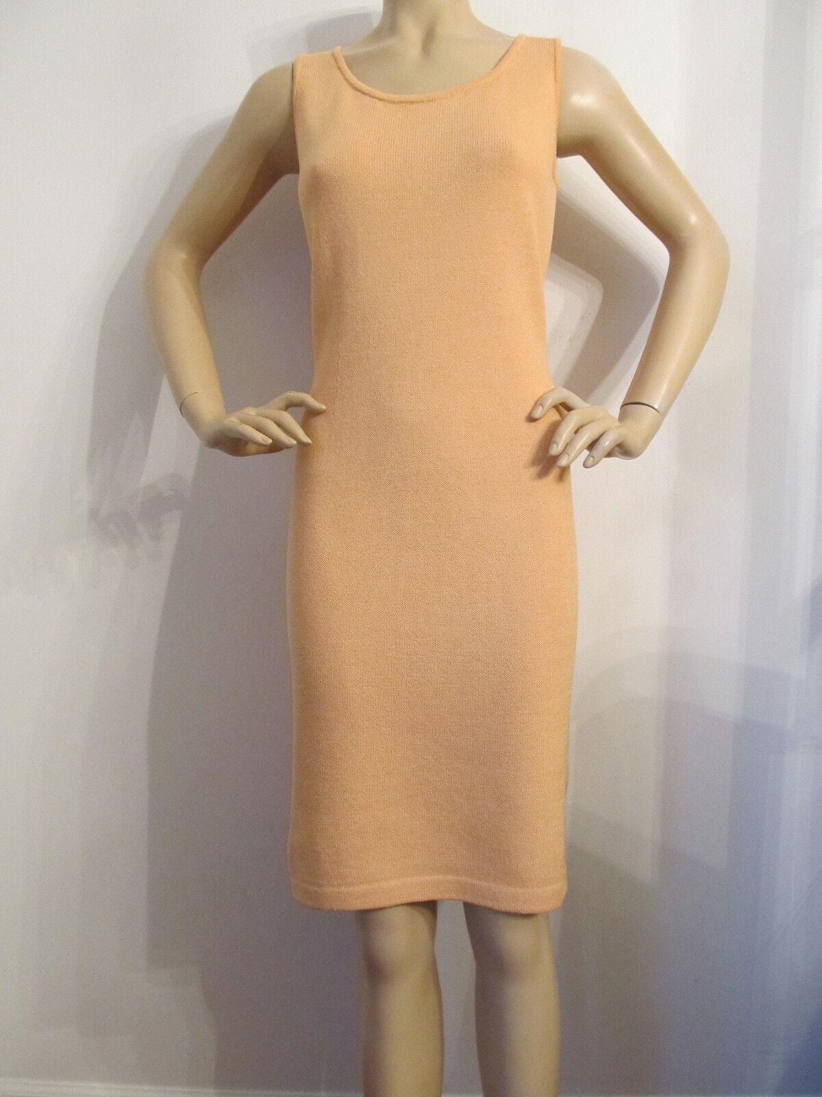 BRAND NEW ST JOHN KNIT SIZE 8 WOMENS DRESS SANTANA KNIT LIGHT PEACH HAZE orange