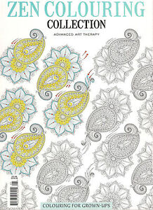 Details About Zen Colouring Book Collection Advanced Art Therapy Color Coloring For Grown Ups