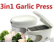 Easy 3 in 1 Garlic Press Slicer Grater Dicing Slicing Kitchen Tool