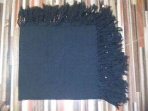 Grosses Soldes Tartan écossais Purled Fringe Budget Piper Fly Plaid Kilt Jet Black Tartan-afficher Le Titre D'origine