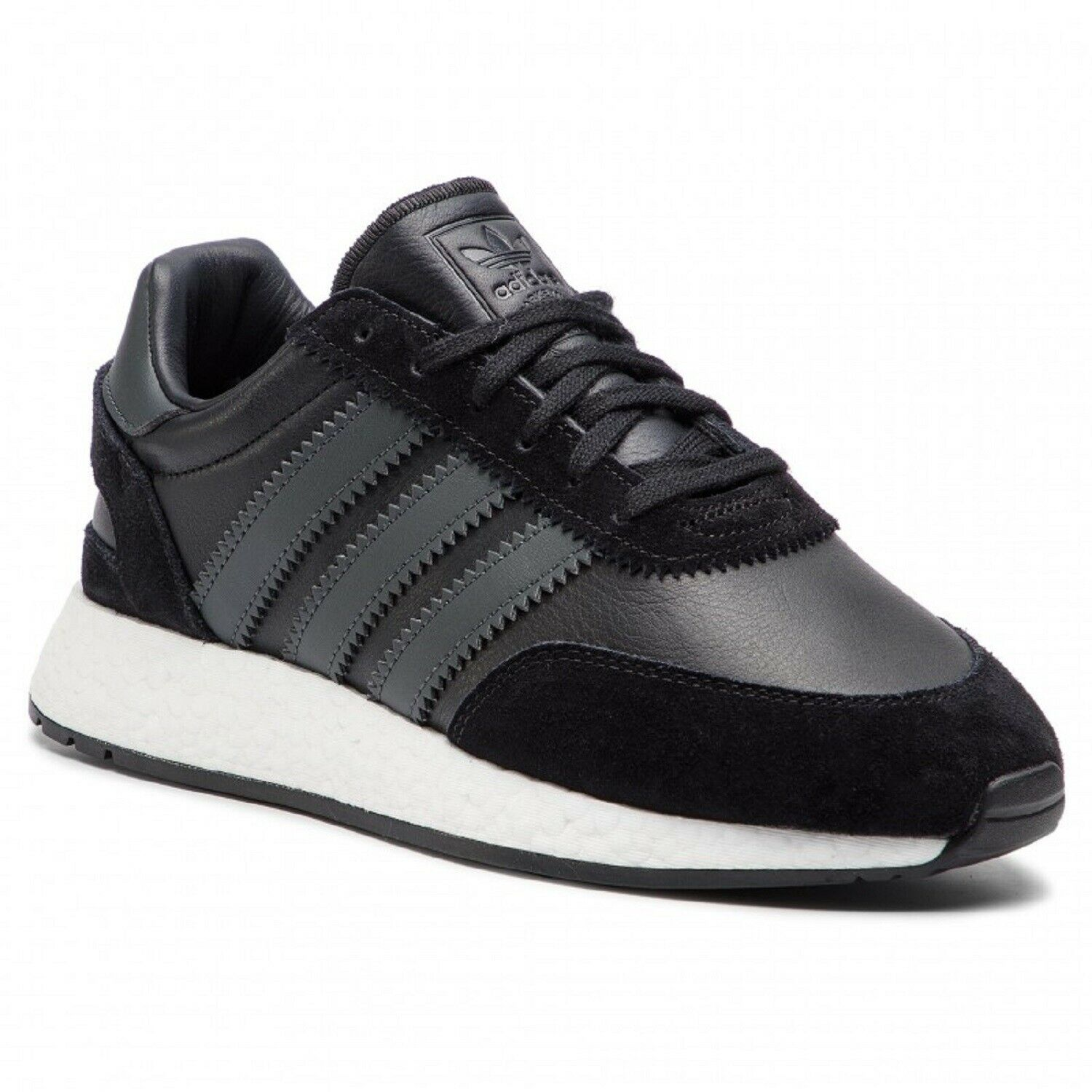 NEW MEN'S ADIDAS ORIGINALS INIKI I-5923 RUNNING SHOES SIZE US 9   BD7798 BLK