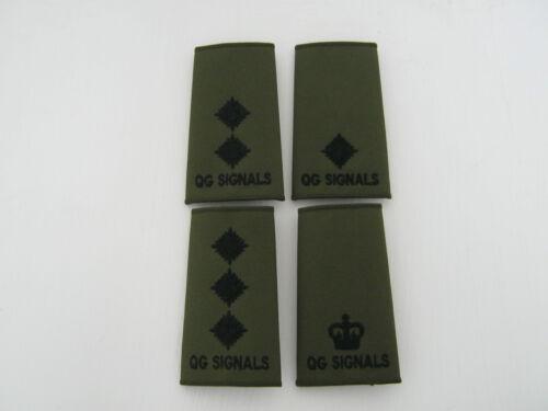 Military QG Signals Queens Ghurka Signals Regiment Rank Slide in Olive Green