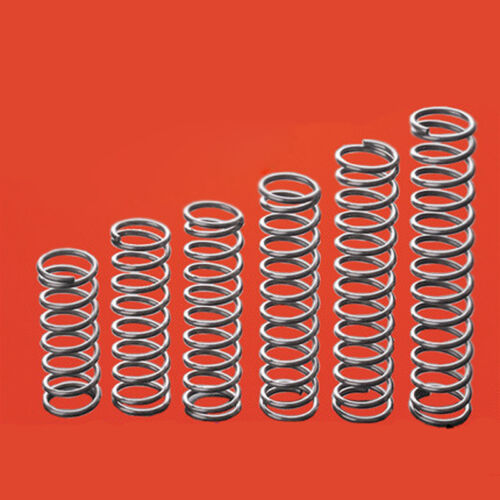 5Pcs Galvanized Compression Spring Select Wire Dia 0.8mm OD 7-11mm Length 10-100