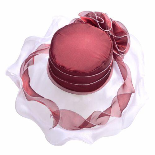 Womens Church Kentucky Derby Wedding Tea Party Ascot Dress Party Sun Hats A405