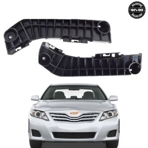 Bumper Cover Support For 07-11 Toyota Camry Front Driver & Passenger Side Set