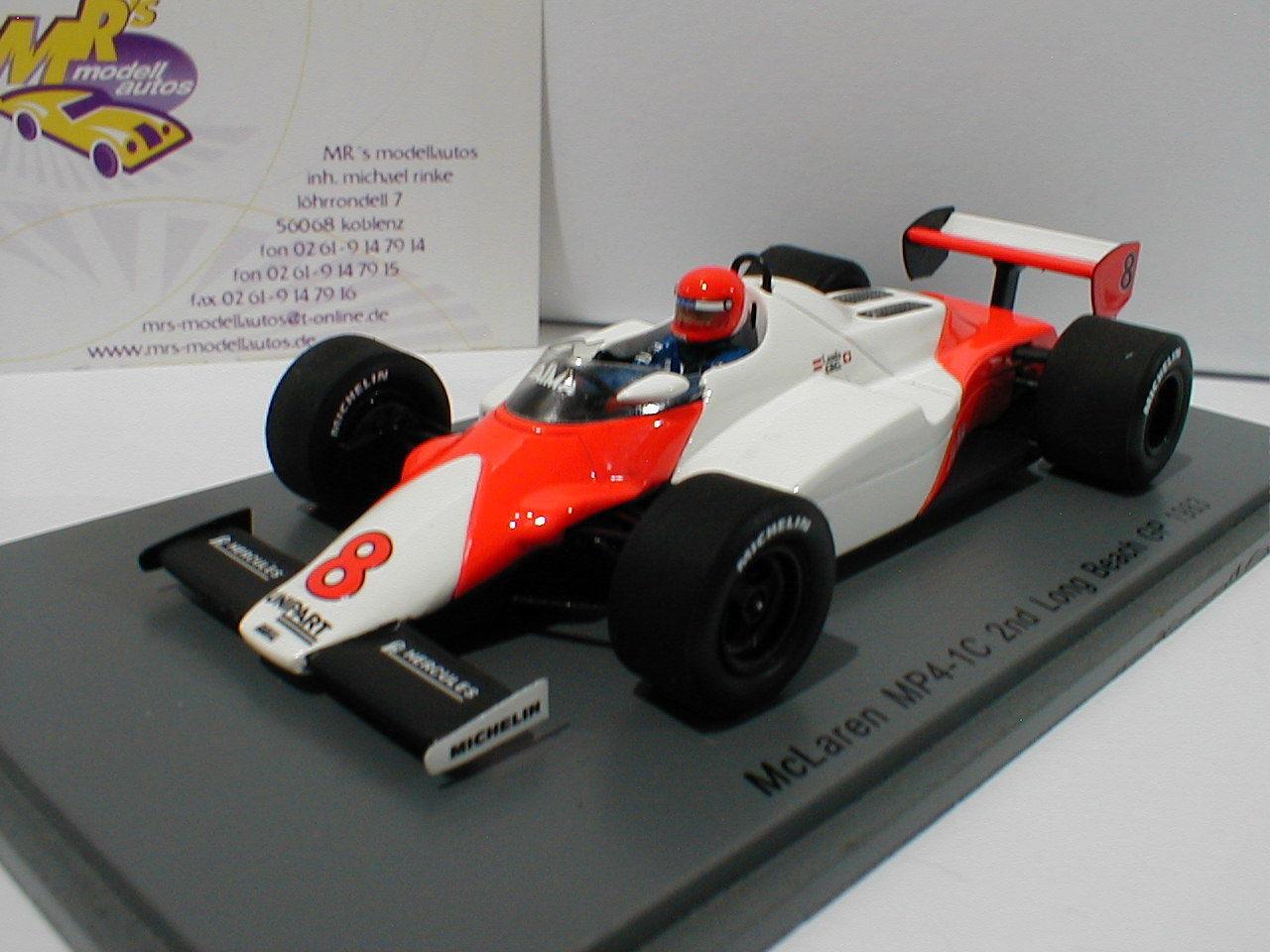 SPARK s4842-McLaren mp4 1c No. 8 2nd Long Beach GP 1983 1 43
