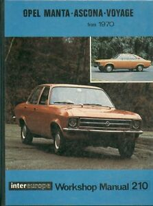opel manta a coupe 1 6 1 9 litre 1970 owners workshop manual rh ebay co uk Opel Monza Opel Speedster