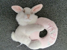 DISNEY'S  BAMBI  THUMPER THE RABBIT RATTLE ON SOFT RING WITH THUMPER EMBROIDERY
