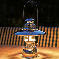 Starklichtlampe Petromax Hk 500 Petroleumlampe Camping Messing chrom M. Schirm