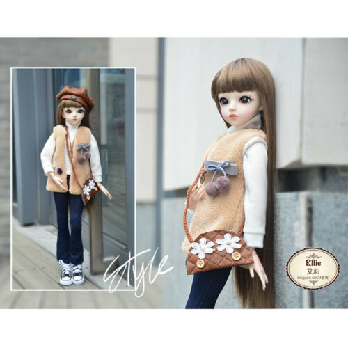 1//3 BJD Doll Girls Gift Ball Jointed Body Face Makeup Eyes Clothes Shoes Toy SET