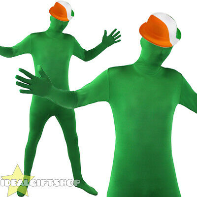 ST PATRICK'S DAY GREEN SKIN SUIT CHOOSE HAT ST PADDY IRISH FANCY DRESS COSTUME