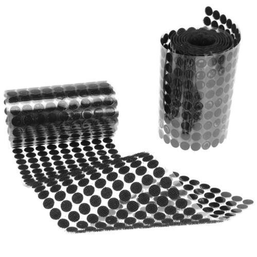 500Paar Klettband 10//15//20mm Hakenband Klettpunkte Klettverschluss Selbstklebend