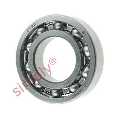 Pack of 2 6901 61901 12x24x6mm 2RS Thin Section Deep Groove Ball Bearing