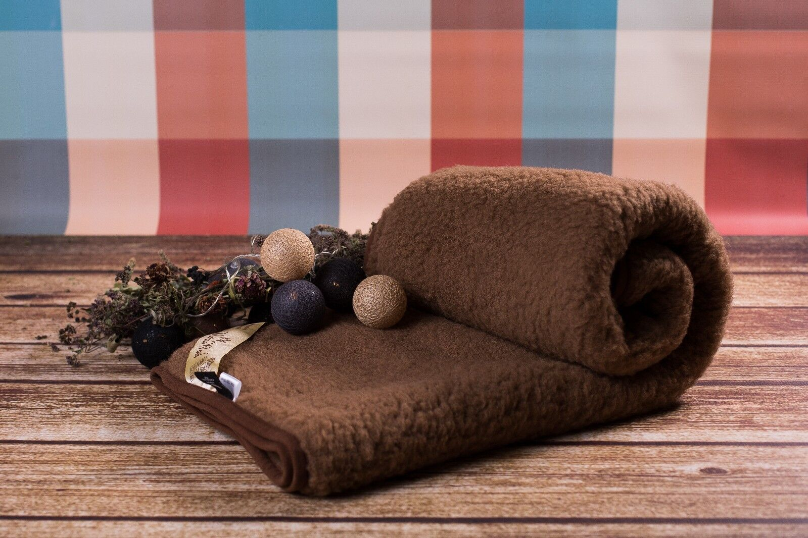 100% Merino Wool braun Blanket SUPER KING SOFA BED COVER 250 x 200 cm Woolmarked