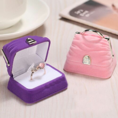 Pendant Ring Purse Velvet Handbag Shape Jewelry Box Storage Display Case
