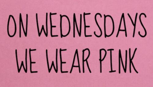On Wednesdays We Wear Pink Mean Girls Ladies T-Shirt