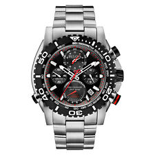 Bulova Men's Precisionist Chronograph Black Roating Bezel Band 47mm Watch 98B212