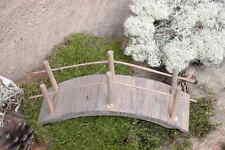 Krippenzubehör -Gewölbte Brücke 10 cm - gebeizt - Handarbeit !!!!