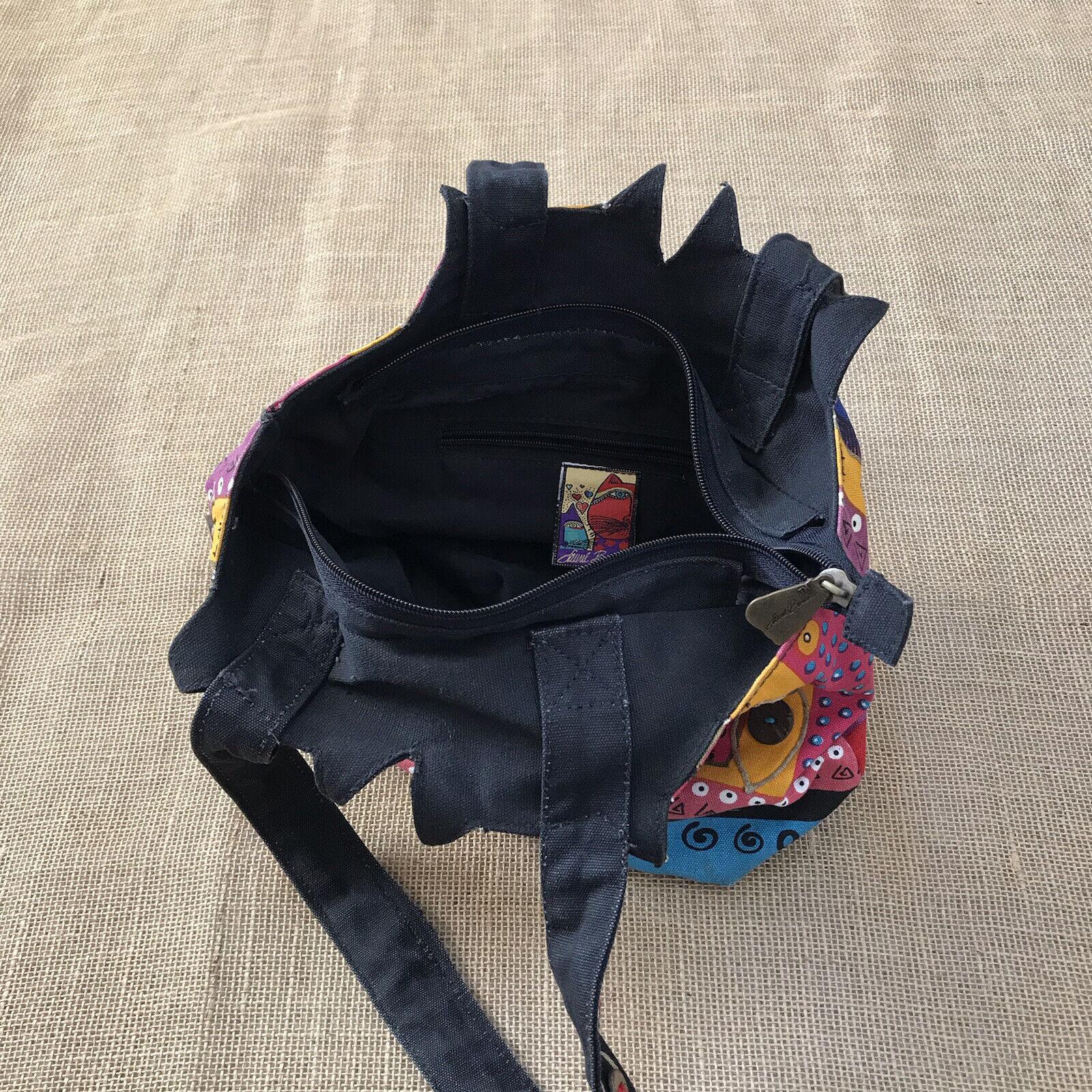 Laurel Burch Feline Cat Hand Bag Shoulder Bag Zip… - image 8