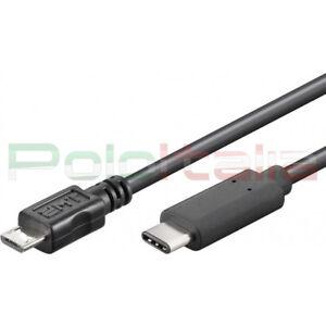 Cavo 1m USB 3.1 type C 2.0 MICRO tipo B maschio per dati pc tablet tv hard disk