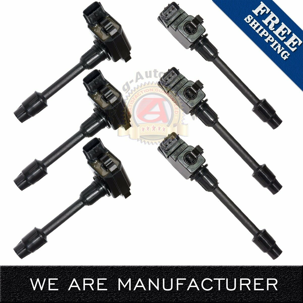 2001 Nissan Maxima Ignition Switch: Set Of 6 New Ignition Coils For 1995-1999 NISSAN 3.0L V6
