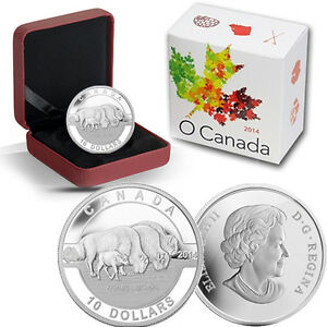 2014-O-Canada-1-2-oz-Silver-10-Bison