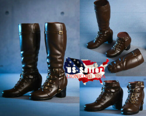 1//6 Avengers Scarlet Witch Boots BROWN PEG TYPE For 12/'/' PHICEN Female Figure
