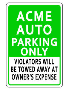 Image Is Loading Personalized Business Parking Sign Green Durable Aluminum No