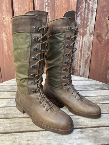 Joan & David leather lace up riding boots size 7.5