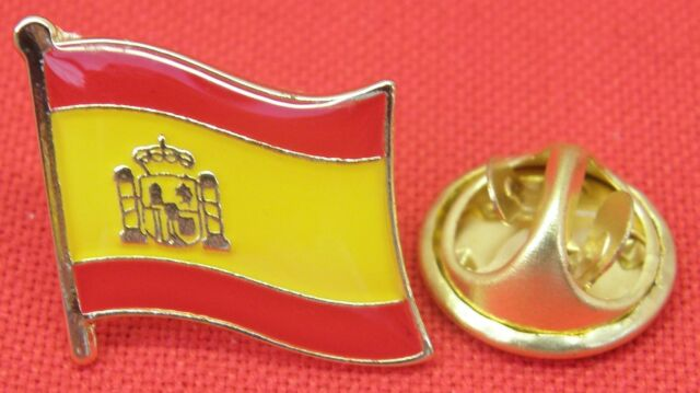Spain Spanish Country Flag Lapel Hat Tie Cap Pin Badge Brooch