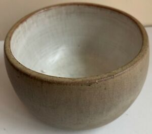 Round-Vintage-60s-Studio-Pottery-Stoneware-Planter-Bowl-Mid-Century-Modern-Deyoe