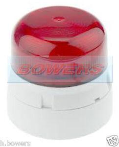 KLAXON QBS-0052 FLASHGUARD 12V/24V 3W TWO 2 BOLT/PIN XENON STROBE RED BEACON