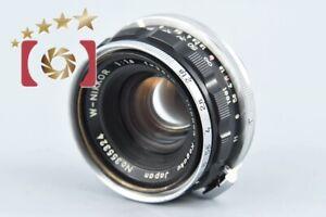 Very Good!! Nikon W-NIKKOR 35mm f/1.8 Nikon S Mount