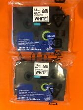 P Touch Label Maker Tape Unistar Tze Tape 12mm 047 Inch Laminated White2 Pack