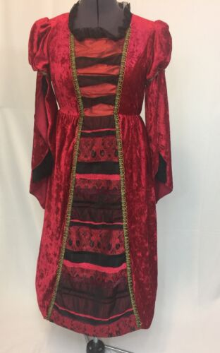 Girls Princess Victorian Renaissance Velvet Hoop D