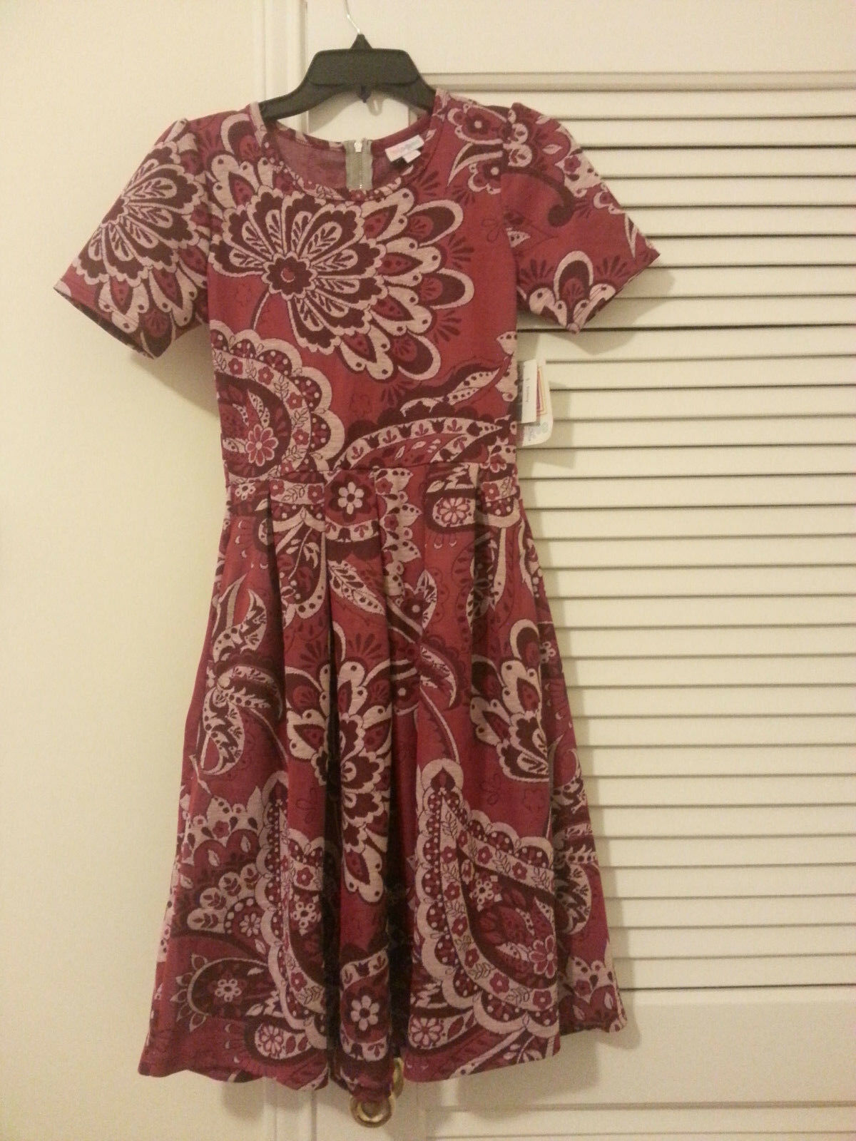 NWT LuLaRoe Amelia Dress - Red Maroon Floral    Size  Small  S- New With Tags