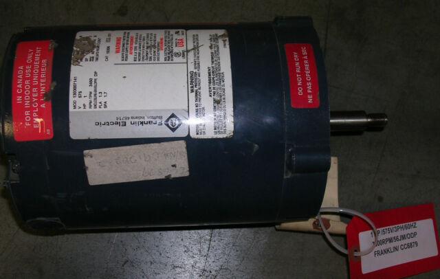 FRANKLIN ELECTRIC- 1 HP - 3600 RPM - 575 V - 3PH - 60HZ - 56J