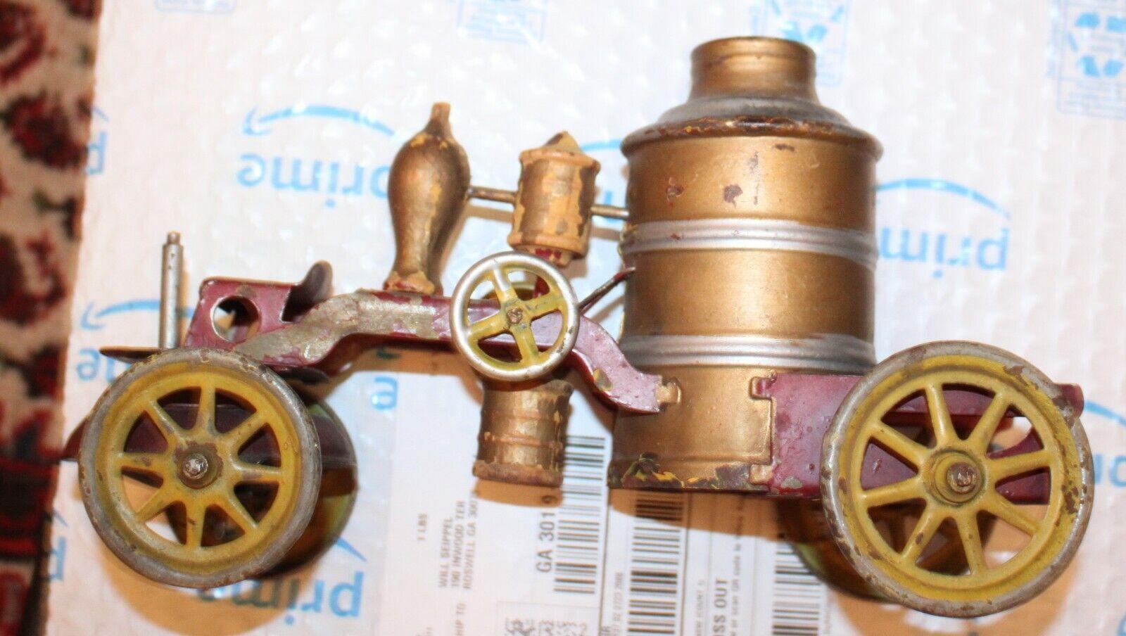 Era de Kingsbury 1899 fuego Autobomba Chapa de acero Juguete Auto Conducción Vagón Wind-up