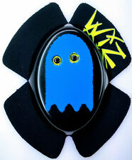 WIZ PACMAN GHOST INKY BLUE KNEE SLIDERS BSB TT WSB MOTOGP KNEE SLIDERS