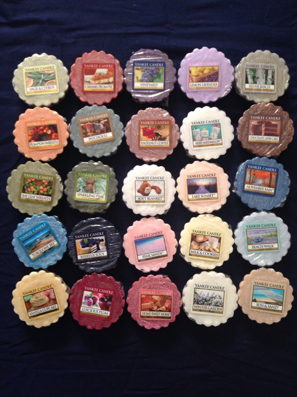 Lot Of 50 Yankee Candle Tart Wax Melts - Mixed Scents New